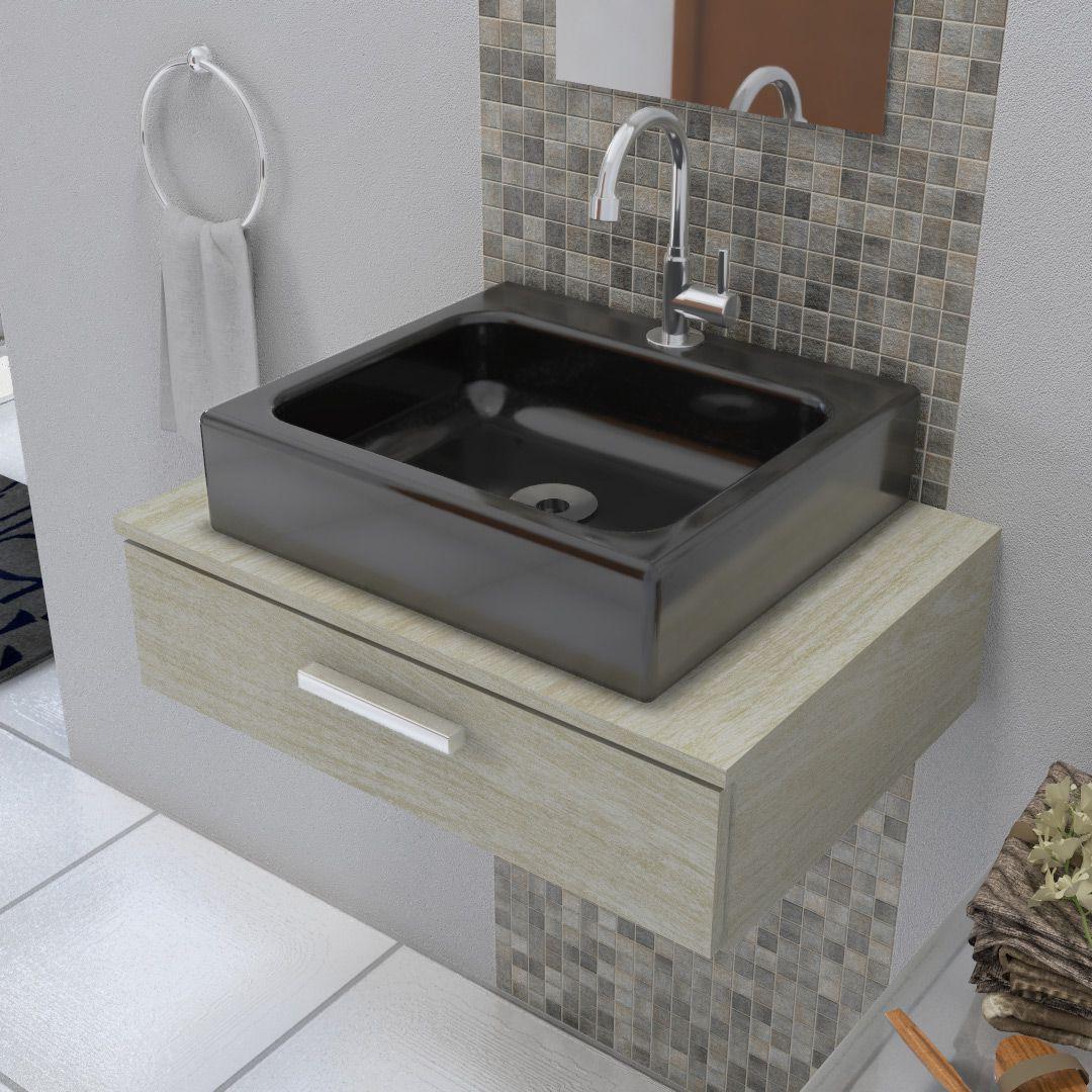 Cuba de Apoio para Banheiro Modelo Nice Preta