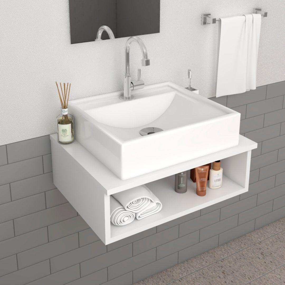 Cuba de Apoio para Banheiro Modelo Ravena Branca