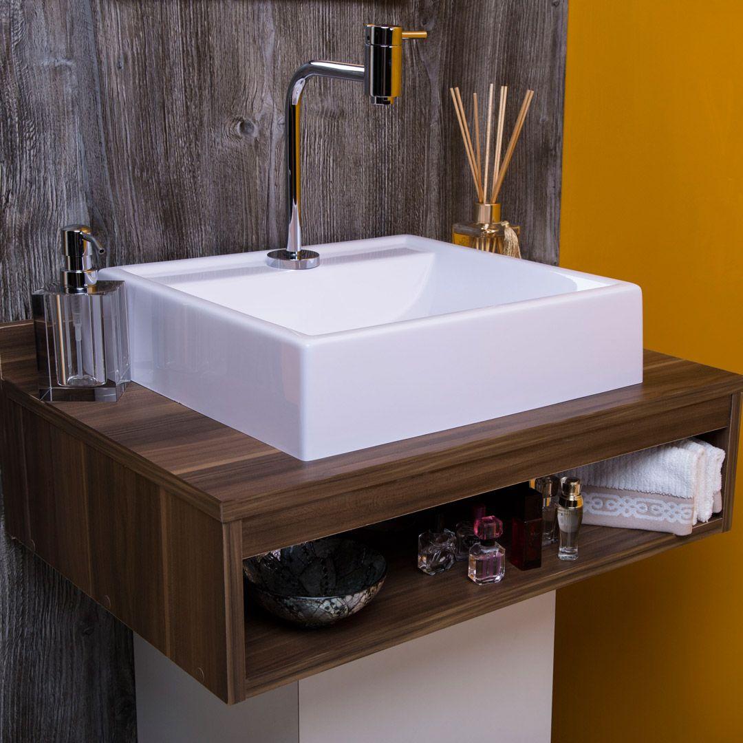 Cuba de Apoio para Banheiro e Lavabo Modelo Ravena Bege