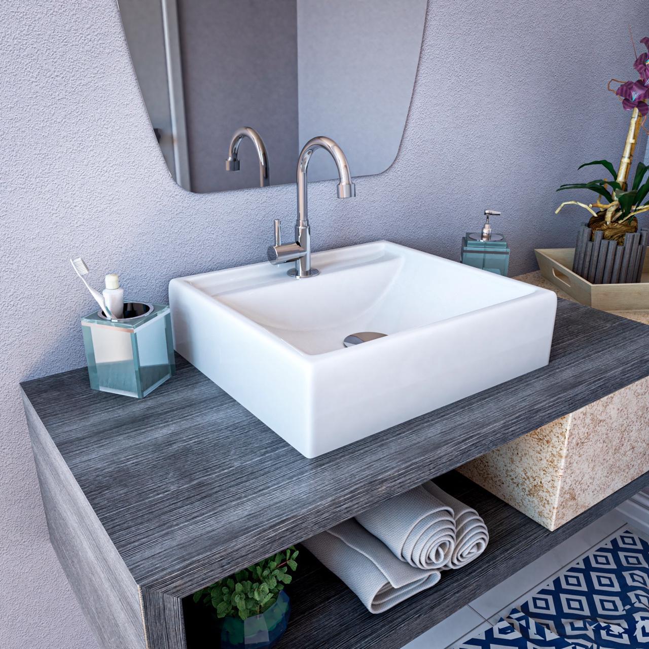 Cuba De Apoio Para Banheiro Modelo Ravena Branca Croy Cubas E Pias De Banheiro