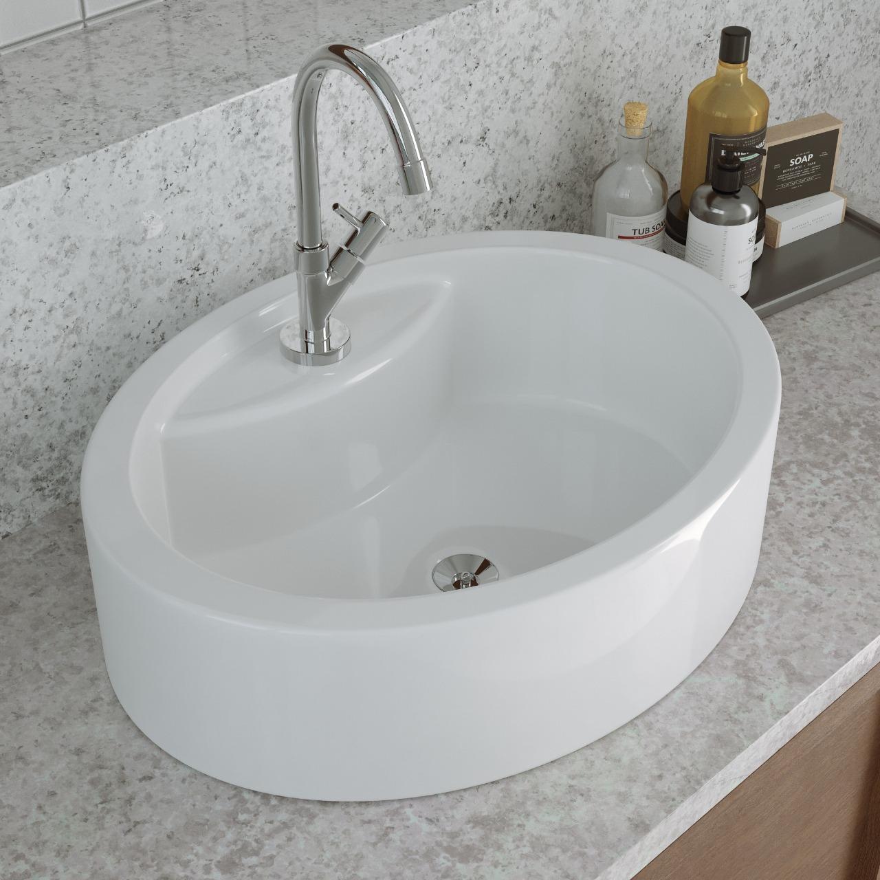 Cuba De Apoio Para Banheiro Modelo Florença 44x34