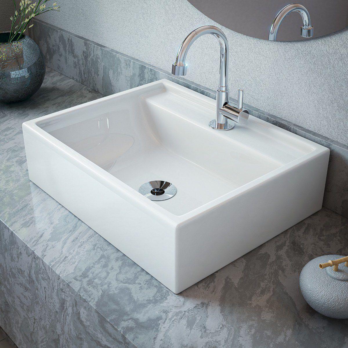 Cuba de Apoio Para Banheiro  Modelo Jacuzzi Branco