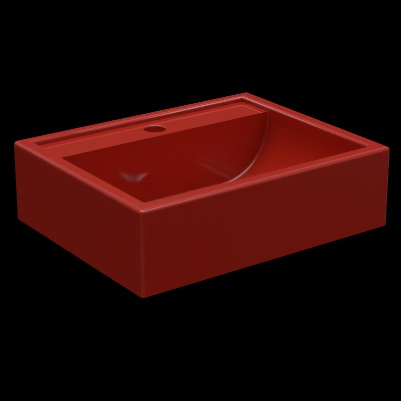 Cuba de Apoio/Sobrepor para Banheiro e Lavabo Modelo Jacuzzi Vermelha