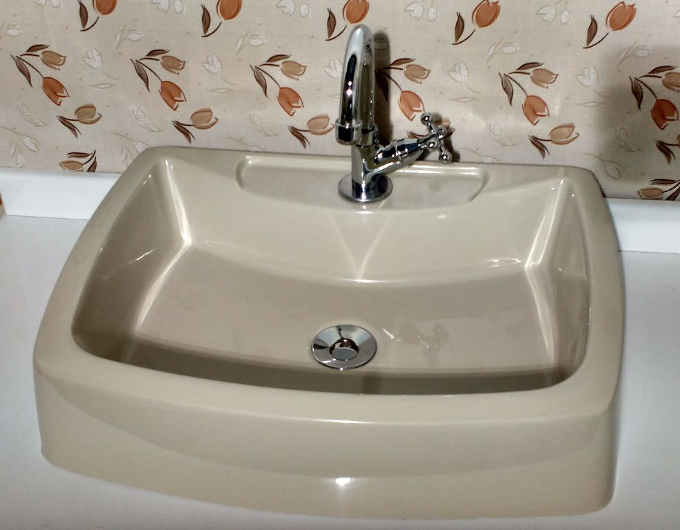 Cuba Pia de Apoio Para Banheiro e Lavabo Modelo Albani Bege