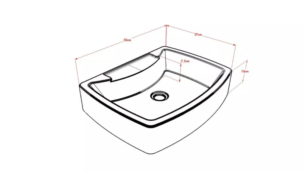 Cuba Pia de Apoio Para Banheiro e Lavabo Modelo Albani Vermelha