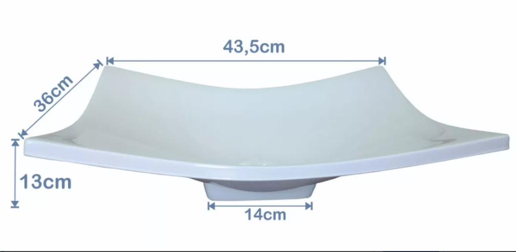 Cuba de Apoio Para Banheiro / Lavabo Modelo Folha Bege