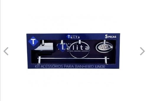 Kit acessórios para banheiro Stander Polido, Marca Rainha