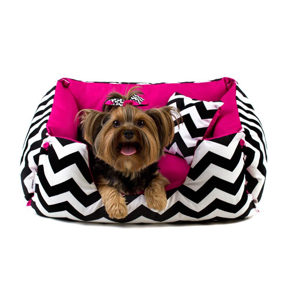Cama Pet Cachorro Gato Dupla Face Lola - M - Chevron Pink