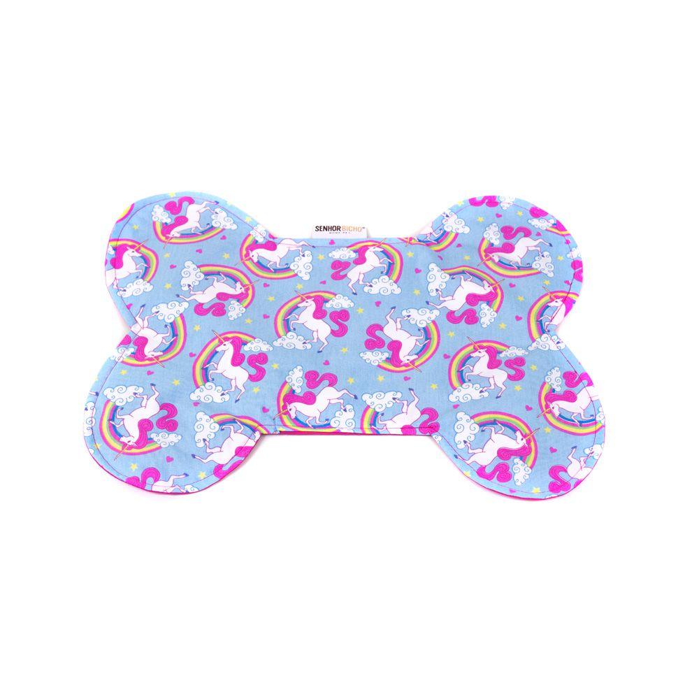 Tapete para Comedouro Senhor Bicho - Tamanho Único - Unicórnio Azul Pink