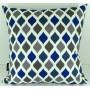 Capa almofada LYON Veludo estampado Balão Azul 50x50cm