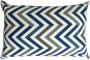 Capa almofada LYON Veludo estampado chevron azul 30x50cm