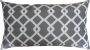 Capa almofada LYON Veludo estampado Geométrico Cinza 30x50cm