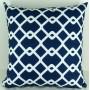 Capa almofada LYON Veludo estampado Geométrico Geométrico Azul 50x50cm