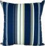 Capa almofada LYON Veludo estampado Listras Azul 43x43cm