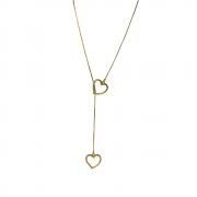 Colar Gravatinha de Coração Folheado a ouro 18 K