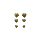 Trio de Brincos Corações Folheado a Ouro
