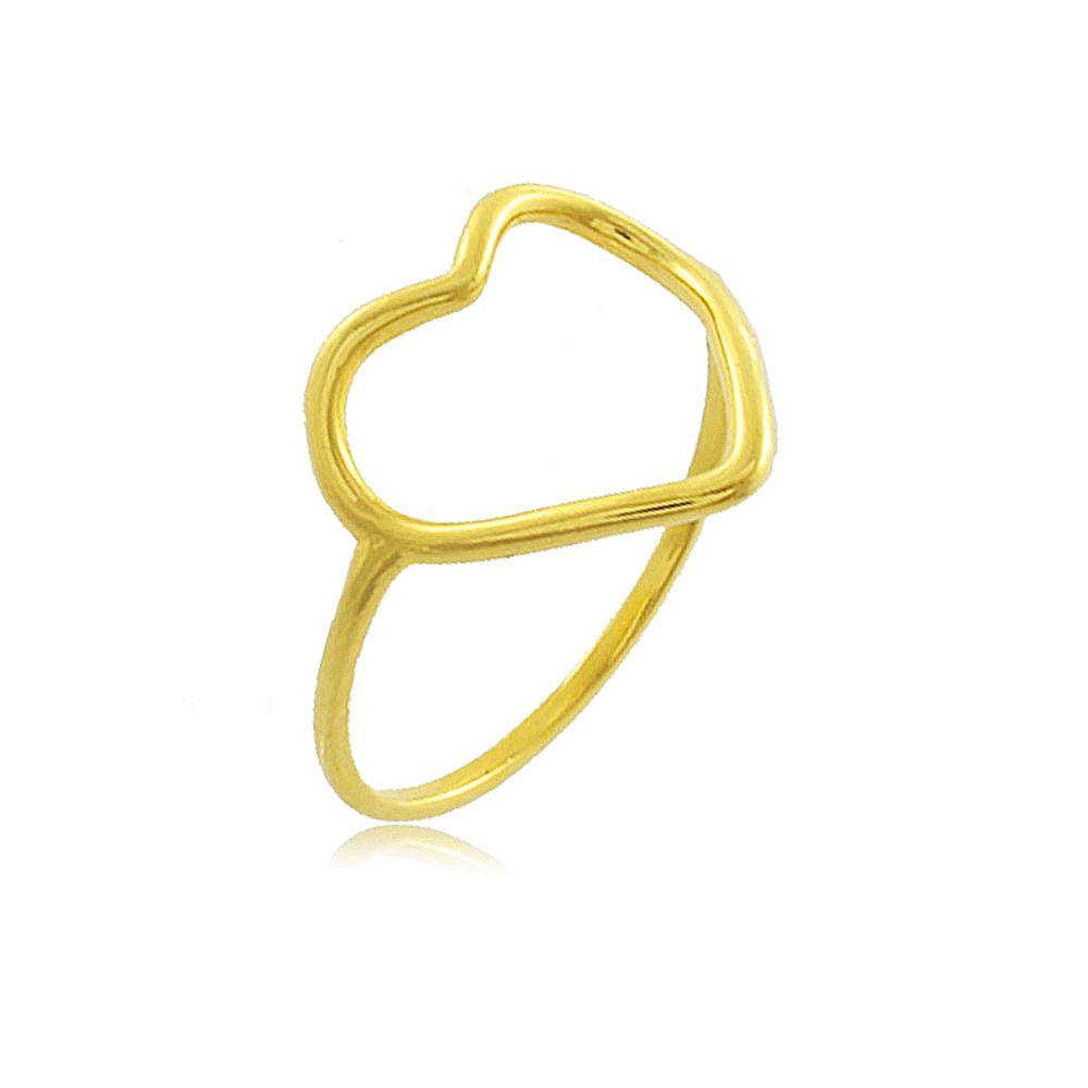 Anel Coração Fl Ouro 18 K  - Constelação Jóias