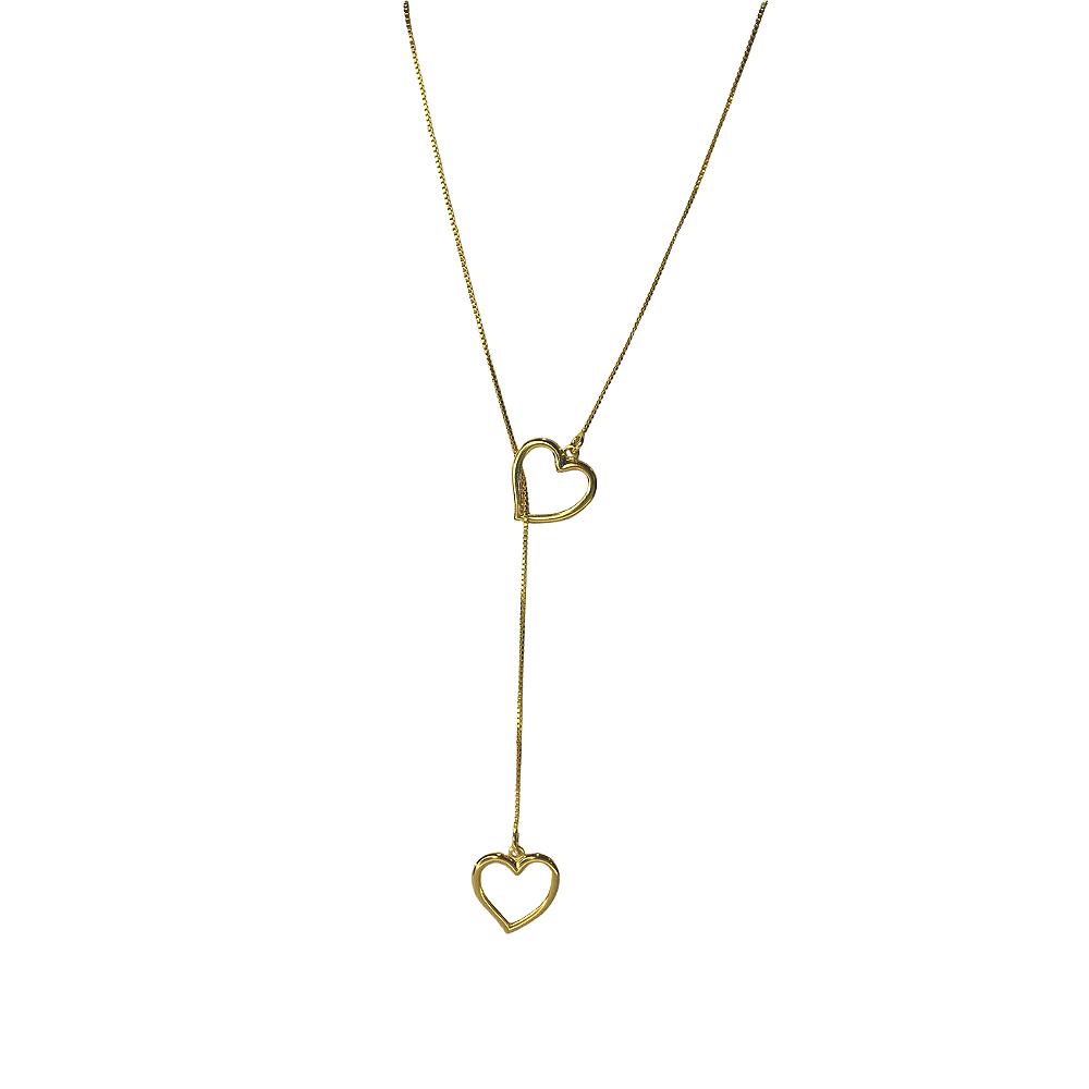 Colar Gravatinha de Coração Folheado a ouro 18 K  - Constelação Jóias