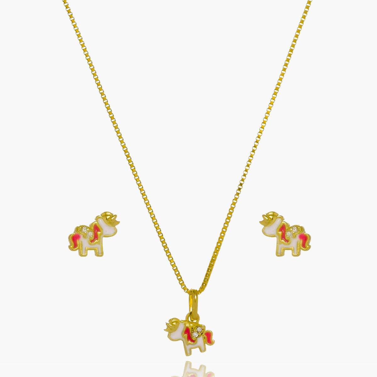 Conjunto Infantil Fl Ouro 18K  - Constelação Jóias