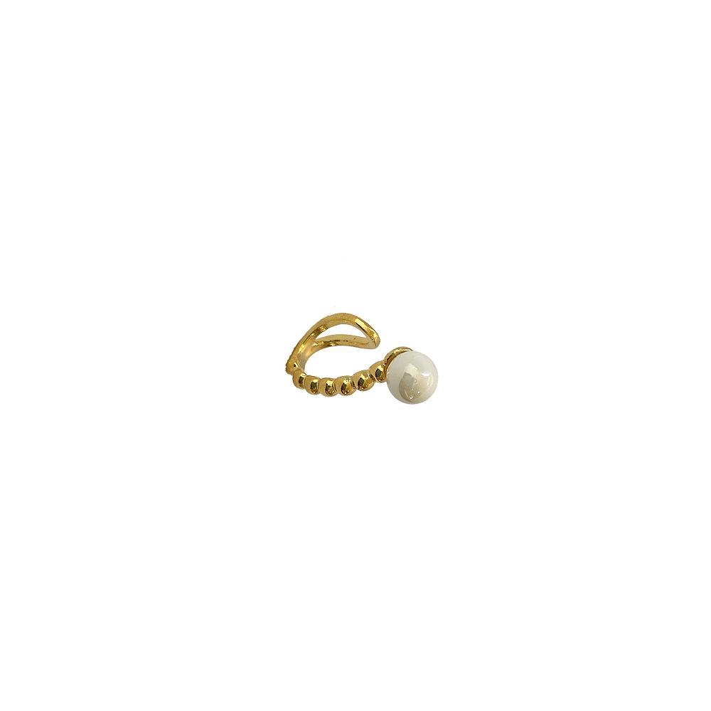 Piercing Fake com Pérola Folheado a Ouro 18 k  - Constelação Jóias