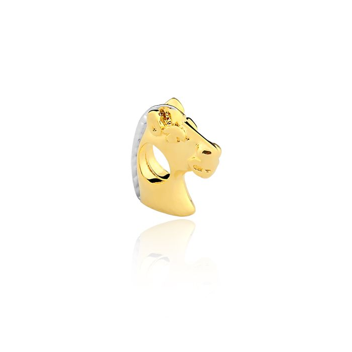 Pingente Berloque Cavalo Folheado a Ouro 18K  - Constelação Jóias