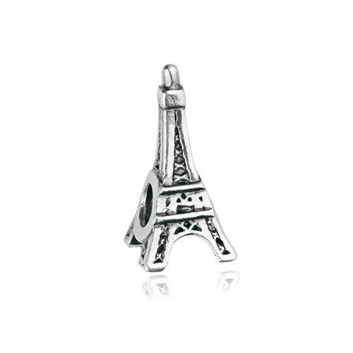 Pingente Berloque Torre Eiffel Folheado a Prata Envelhecida  - Constelação Jóias