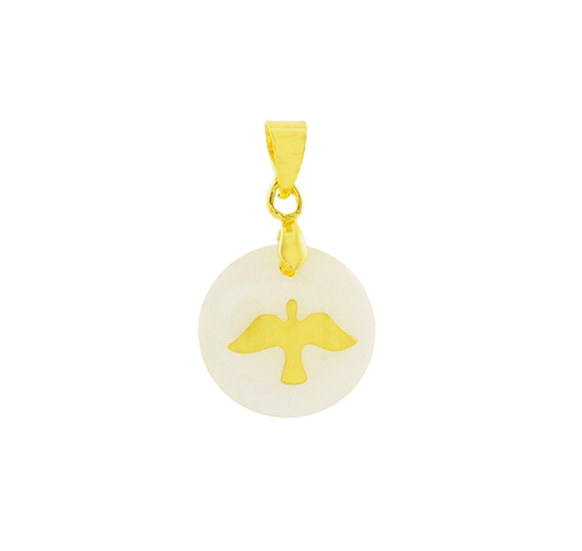 Pingente Espírito Santo Folheado a Ouro 18k  - Constelação Jóias