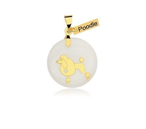 Pingente Raça Poodle Folheado a Ouro 18K  - Constelação Jóias