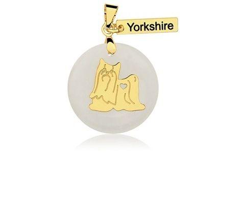 Pingente Raça Yorkshire Folheado a Ouro 18K  - Constelação Jóias