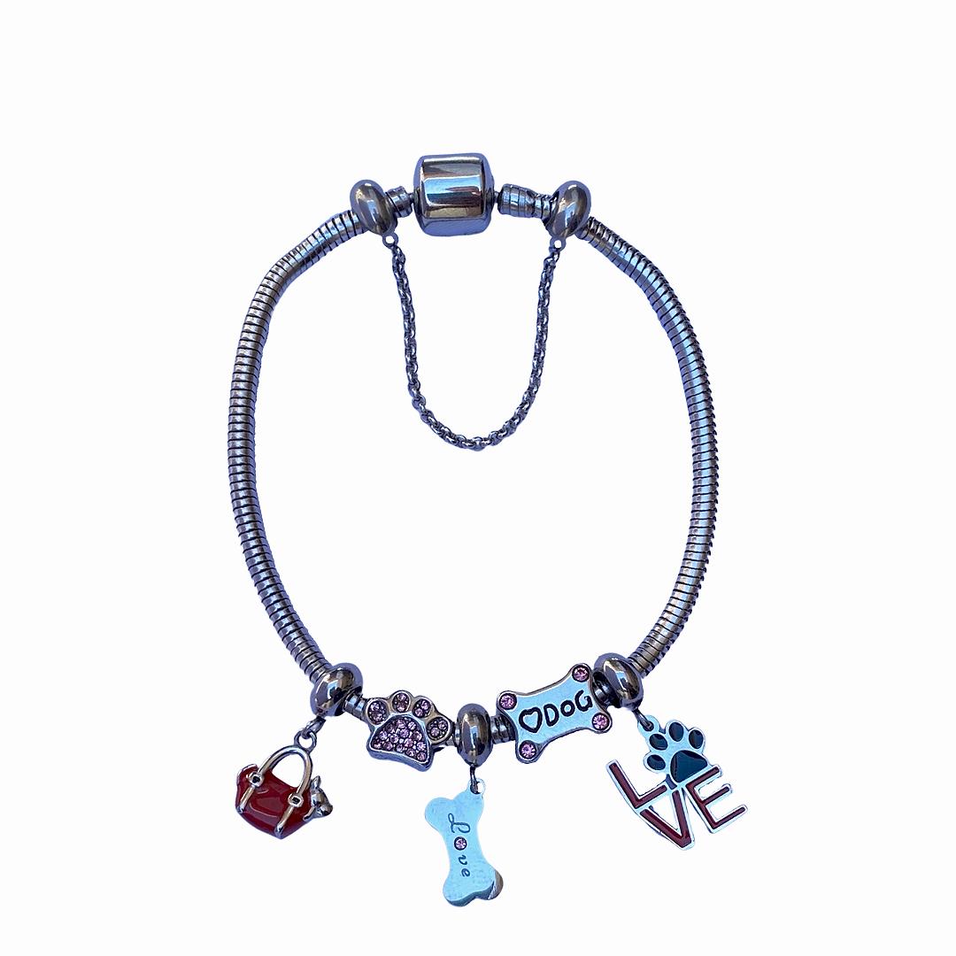 Pulseira em Aço Inox Pet Love com trava de segurança  - Constelação Jóias