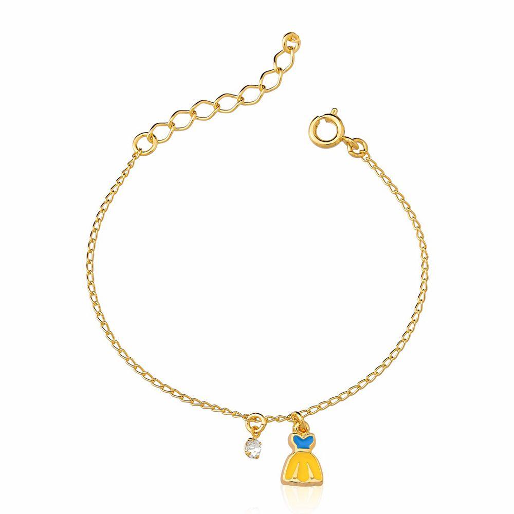Pulseira Vestido de Princesa Fl a Ouro 18 K  - Constelação Jóias