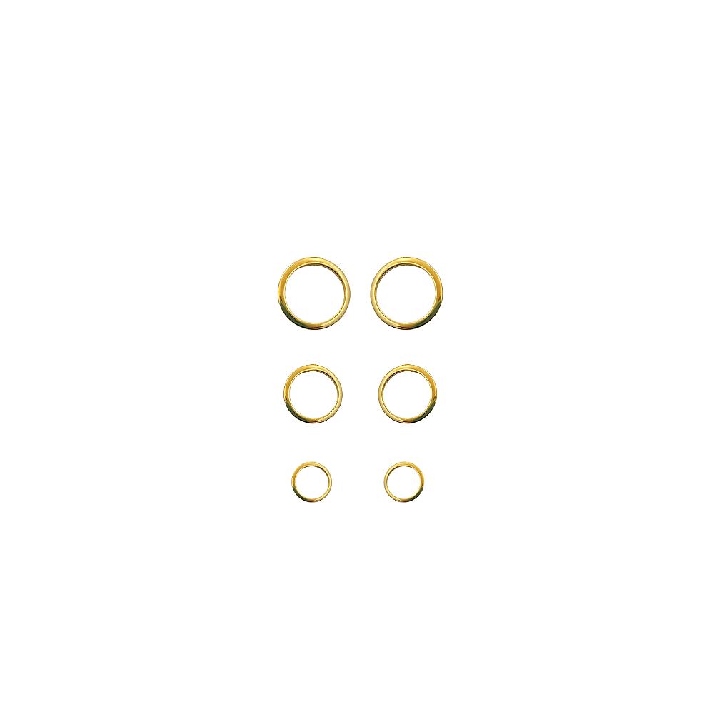 Trio de Brinco Círculos Vazado Folh a Ouro 18 k  - Constelação Jóias