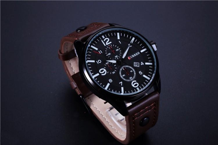 4b931159713 Relógio Masculino Casual Pulseira Couro 30m - Branco - FRC Magazine