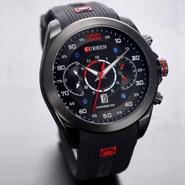 a542302a519 Relógio Masculino Esportivo Pulseira Borracha 30m - Preto - FRC Magazine