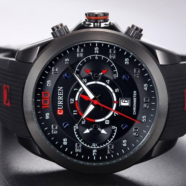 4b9bf45c252 Relógio Masculino Esportivo Pulseira Borracha 30m - Preto - FRC Magazine