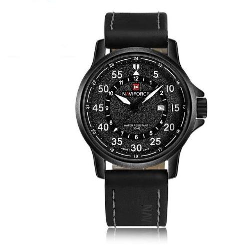 c8c2474aa6 Relógio Masculino Esportivo Pulseira Couro 30m - Preto - FRC Magazine
