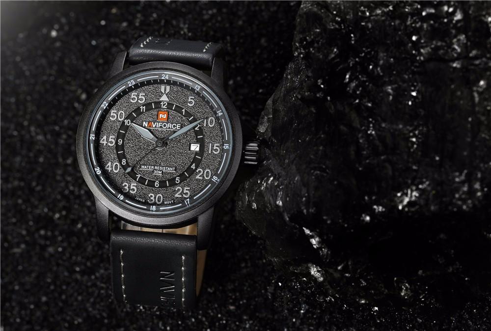 2aa65f6b02e Relógio Masculino Esportivo Pulseira Couro 30m - Preto - FRC Magazine
