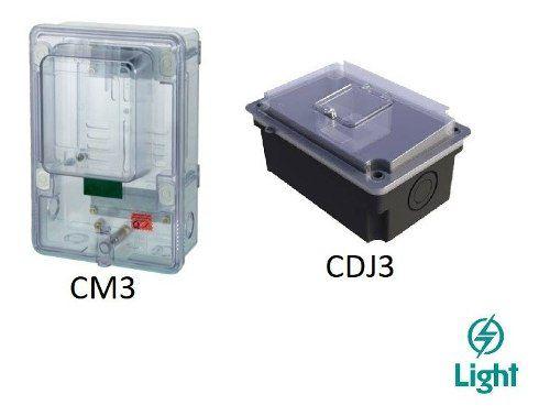 Caixa Para Medidor Cm3 E Cdj3 Para Geral Trifásico Light Rj