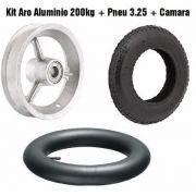 Roda Alumínio Completa Com Rolamento Aro+pneu+câmara 200kg