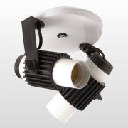 Spot Aletado 2 Lâmpada Branco X Preto E27