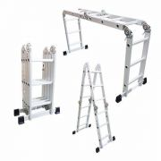 Escada Multifuncional Articulada  12 Degraus 4x3 150kg