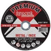 Disco de Corte Inox Premium 1,0mm Furo 22mm 100 Peças