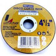Disco para Inox Ferro Aluminio Fino 4 1/2 Furo 22mm 1mm 50 Peças