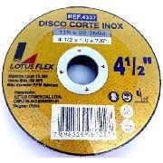 Disco Para Inox Ferro Aluminio Fino 4 1/2 Furo 22mm