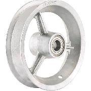 Roda Alumínio Completa Com Rolamento Aro+pneu+câm 200kg 2 Pç