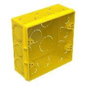Caixa De Luz 100 De 4x2 + 10 De 4x4 Amarela Tigre
