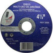Disco corta Aluminio Multiuso Zirconia 4 1/2 X 1,0 x 22mm