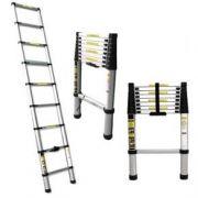 Escada Telescópica Alumínio 10 degraus 320cm Profissional
