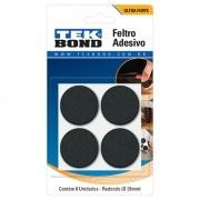 Feltro Adesivo Protege Piso Móveis Redondo 35mm 8 Peças