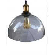 Luminária Pendente Tipo Industrial Vidro Ref. G-3148